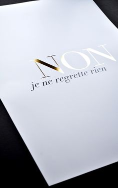 The simplicity and elegance of a gold foil