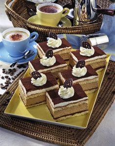 Unser beliebtes Rezept für Cappuccino-Sahne-Schnitten und mehr als 55.000 weitere kostenlose Rezepte auf LECKER.de.