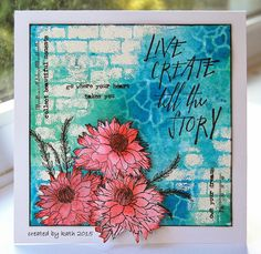 Kath's Blog......diary of the everyday life of a crafter: Go Where Your Heart Takes You... using Tim Holtz, Ranger, Idea-ology, Sizzix and Stamper's Anonymous products; Mar 2015