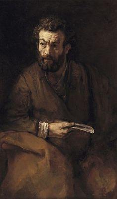 St Bartholomew (détail), by Rembrandt van Rijn