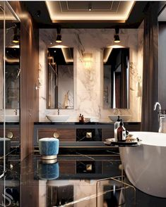Luxury Bathroom Master Baths Marble Counters is no question important for your home. Whether you choose the Luxury Bathroom Ideas or Luxury Bathroom Master Baths Walk In Shower, you will make the best Interior Design Ideas Bathroom for your own life. Home Design, Decor Interior Design, Interior Decorating, Design Ideas, Design Hotel, Decorating Ideas, Design Inspiration, Design Trends, Daily Inspiration