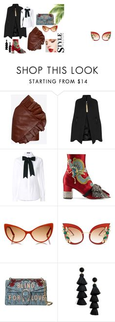 """stile Pop creativer"" by wentejeida on Polyvore featuring moda, Yves Saint Laurent, Lanvin, Dolce&Gabbana, Gucci, Tom Ford y BaubleBar"
