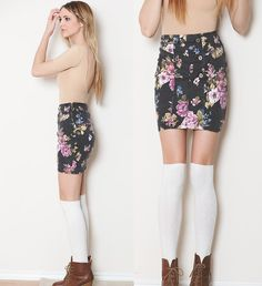 My floral skirt (by Madeline Becker) http://lookbook.nu/look/3156613-my-floral-skirt