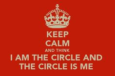 The knife of never letting go... I AM THE CIRCLE AND THE CIRCLE IS ME