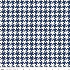 Riley Blake Designs - Houndstooth - Houndstooth Medium in Navy
