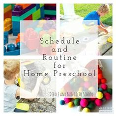 Routine & Schedule for Preschool at Home