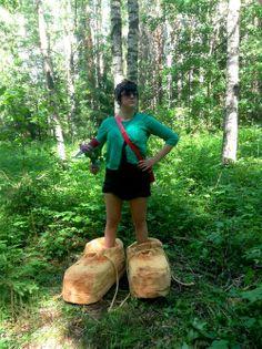 Tapion kengissä Leena Reittu  wood, rope 2014