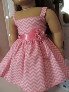 Chevron Striped Sundress  18 inch Doll Clothes by fashioned4you, $20.00