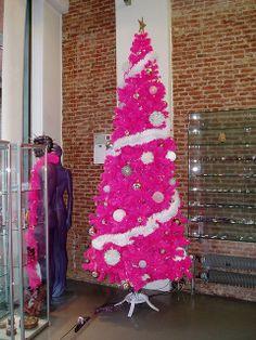 hot pink Christmas tree :D | Flickr - Photo Sharing!