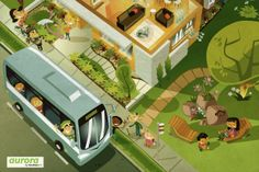 Vic Urban - Aurora Estate by Marco Palmieri, via Behance