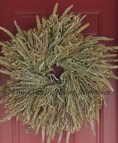 Primitive ~ Colonial ~ FREE SHIPPING ~ Handcrafted Dried Corn Tassel Wreath