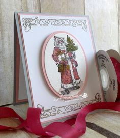 Santa in Pink... | Rambling Rose Studio | Billie Moan