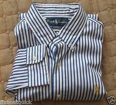 #POLO Ralph Lauren men size M fitted button down long sleeve shirt NWT RalphLauren visit our ebay store at  http://stores.ebay.com/esquirestore