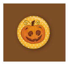 Lustiger Kürbis-Magnet für alle großen und kleinen Halloween-Fans.     Der Magnet hält eure besten Partyrezepte nicht nur am Kühlschrank fest, sondern