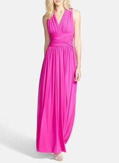 Love the brightness of this neon gown!