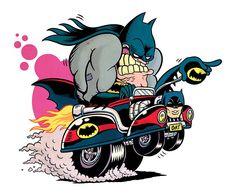 The Batmobile by Paco Puente I Am Batman, Batman Art, Cartoon Rat, Batman Pictures, Batman Beyond, Batman Universe, Batmobile, Dc Heroes, Punisher