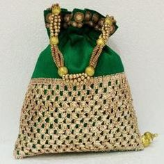 Green colour  Designer Clutches : Navishka Collection -  YF-43149