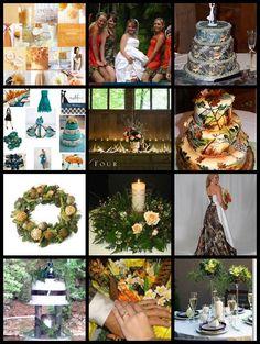camo and orange wedding reception decoration ideas. | MY EVENT