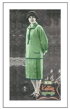 1920s The Rita Sweater Suit Knitting Pattern – PDF Instant Download