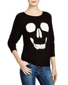 WILDFOX Mort Skull Sweatshirt   Bloomingdale's