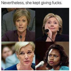 Nevertheless, she kept giving fucks.