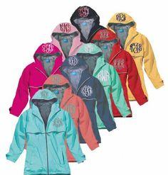 Monogram Rain Jacket, Charles River Rain Jacket, Women's Monogrammed Rain…
