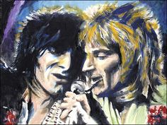 Ron Wood & Rod Stewart of The Faces