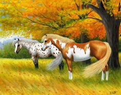 Bridget Voth / A fall afternoon Beautiful Horse Pictures, Beautiful Horses, Farm Paintings, Animal Paintings, Horse Drawings, Animal Drawings, Conceptual Drawing, Horse Artwork, Majestic Horse
