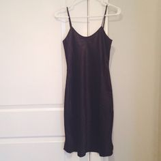 """Vintage Inspired Black Slip Pretty black slip from Unique Vintage with a feminine silhouette. Size small, 34"""" from the top of the slip to the bottom, with adjustable straps. 100% polyester, not stretchy. New with tags. Unique Vintage Dresses"""