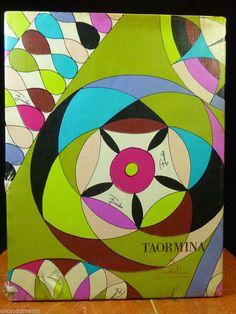 Rare Emilio Pucci Taromina Haute Scripture Collection Eaton Letter Stationery #taormina #sicilia #sicily