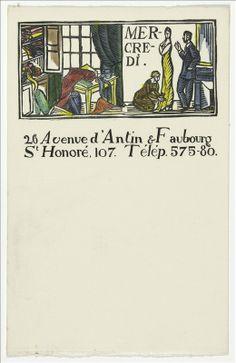 ¤ Papier à en-tête de la maison Poiret « Les Jours de la semaine » Dufy vers 1919