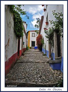 Calle de Óbidos street, Leiria_ North Portugal
