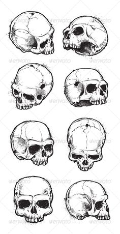 Skulls_Hand_Drawn_Set_1_GR1.jpg (590×1152)