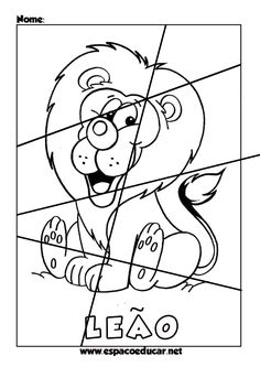 Quebra-cabeças educativos ilustrados para imprimir, colorir, recortar e montar! Para aprender brincando! ... Mazes For Kids, Art For Kids, Color Activities, Preschool Activities, Cutting Practice, Background Powerpoint, Exercise For Kids, Teaching Tips, Anime Naruto
