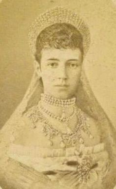 Wedding photo of Maria Feodorovna (Dagmar) future Tsarin of Russia -1866