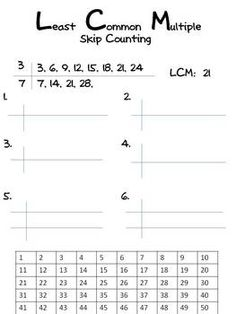 math worksheet : least common multiple  math  pinterest  least common multiple  : Multiples Worksheet Grade 5
