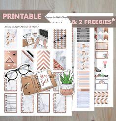 GIRL BOSS printable Happy Planner Sticker Kit.Printable planner Sticker kit, Marble Happy Planner Kit,Printable planner weekly sticker kit