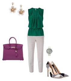 """#342"" by snows22 on Polyvore featuring moda, MaxMara, Emilio Pucci, Accessorize, Gianvito Rossi e Hermès"
