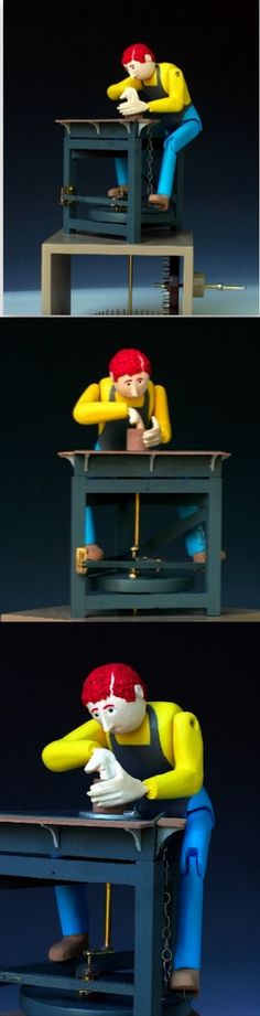 Asheville Sculptor Jim Kransberger - Automata Creator and my very good friend.  This is my favorite of his pieces.