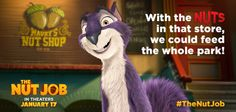 To save Liberty Park, Surly feasts his eyes on Maury's Nut Shop. Join the heist on January 17! #TheNutJob
