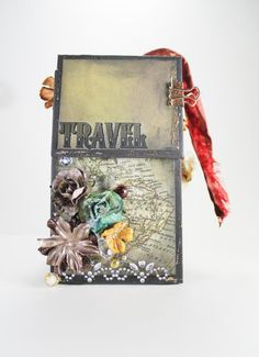 Travel Mini Album Finished Scrapbook. by BlingNThingsbyPenny