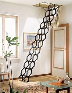 Escaleras on pinterest textured wallpaper primers and - Escaleras para buhardillas ...
