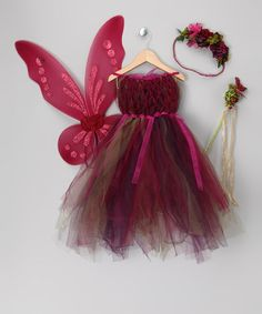 Save Now on this Purple Fairy Dress Set - Todder & Girls by Enchanted Fairyware Couture on #zulily today!
