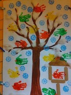 Summer Crafts, Diy And Crafts, Toddler Bulletin Boards, Bird Theme, Winter Is Coming, Preschool Crafts, Art Education, Art For Kids, Christmas Crafts