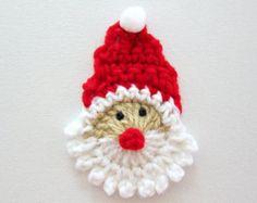 crochet applique santa claus free pattern - Google keresés