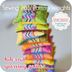 Pretty little pattern weights, a great scrap-buster project!