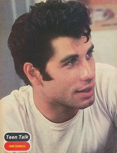 John Travolta from when he was younger in grease. Omg he is so perfect! <3 <3