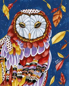 A magnificent owl on The Opulent Nest, Jennifer Lambein / Studio Petite <3