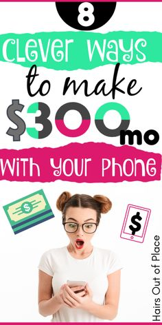 8 easy ways to earn extra cash with your phone These money earning apps are perfect ways to make money from home for college students teens or moms money makemoneyonline finance onlinebusiness cash sidehustles # Ways To Earn Money, Earn Money From Home, Earn Money Online, Online Jobs, Money Tips, Making Money From Home, Online Phone, Making Money Teens