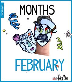 February, months in English. English Study, English Words, English Lessons, Learn English, Name Of Months, Months In A Year, Vocabulary Words, English Vocabulary, Months In English